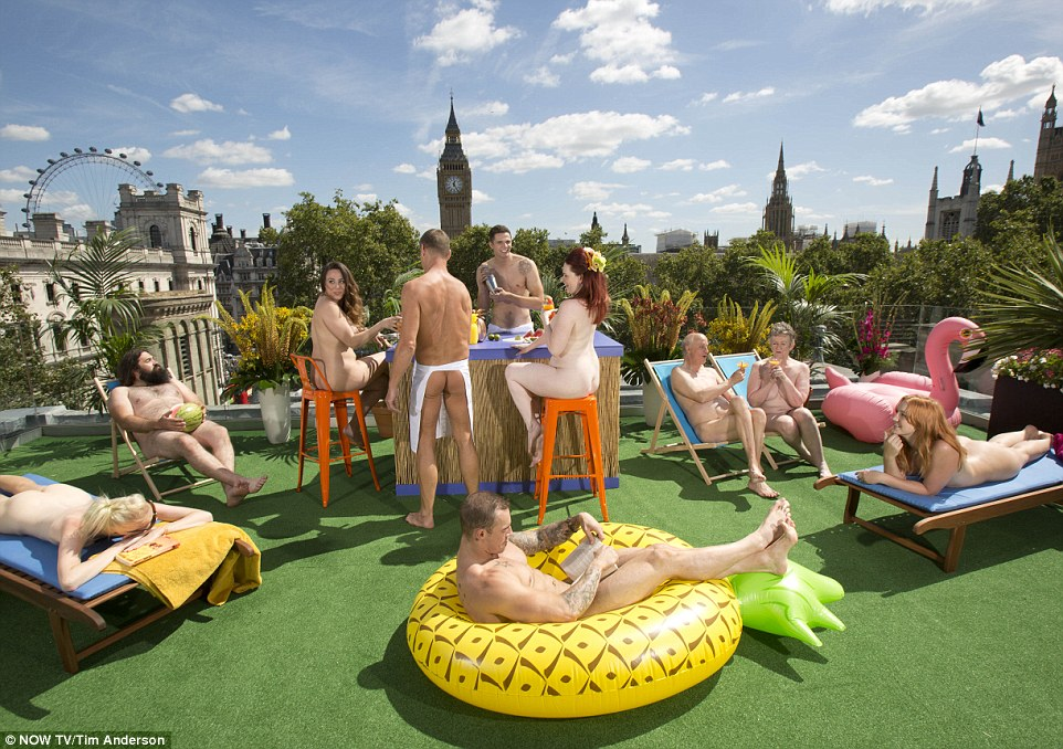 London welcomes its first nudist roof terrace in Parliament Square. Terrace includes open-air bar, sun-bathing areas and a trampoline This hotel will open in London this week in a bid to encourage visitors to take off their clothes as they take in the sights.- Ekoconnect