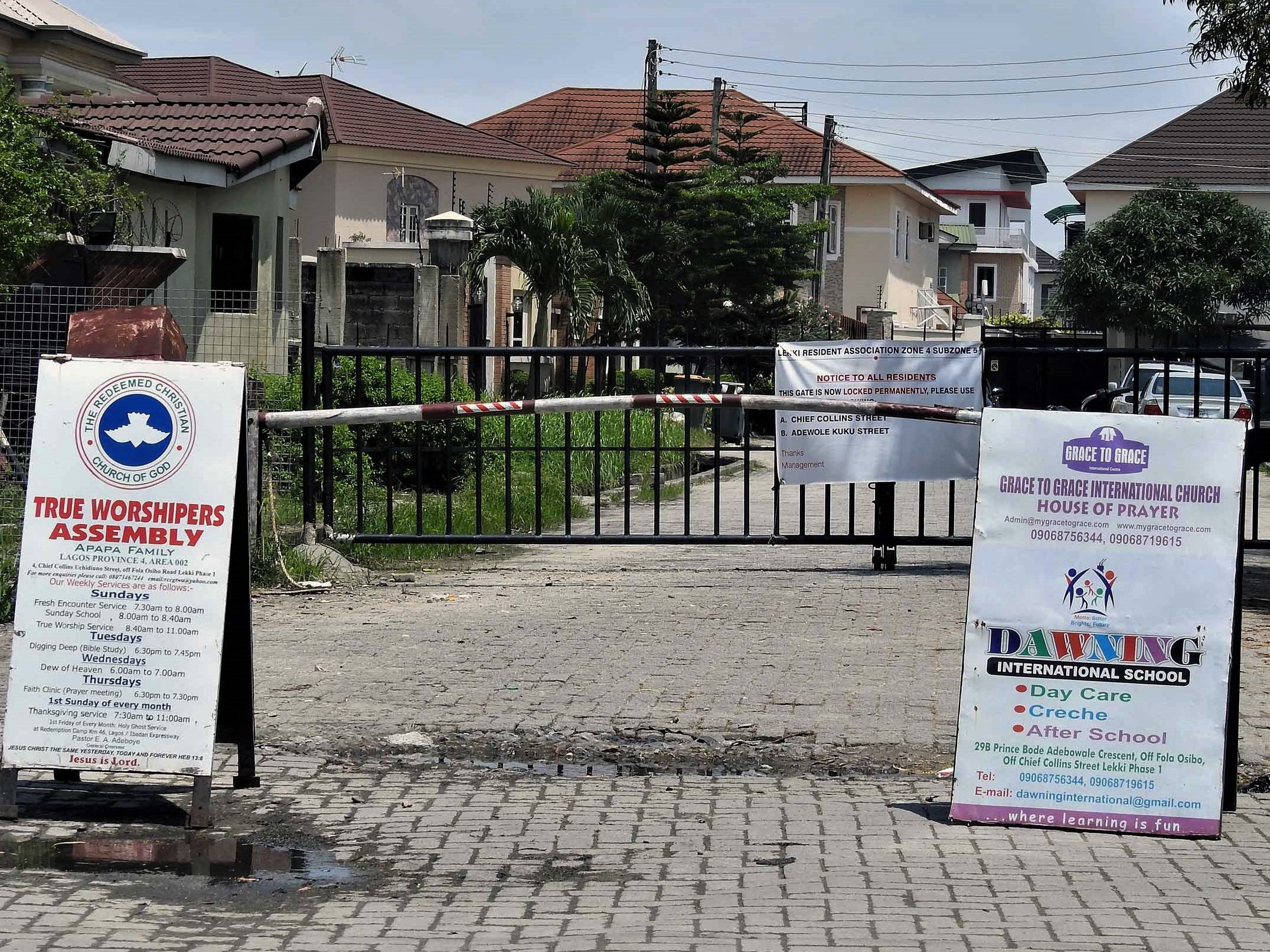 Lawless in Lekki One: The Growing Menace of Street Gates